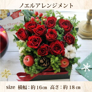 【あす楽】クリスマスギフトノエルアレンジサイズ