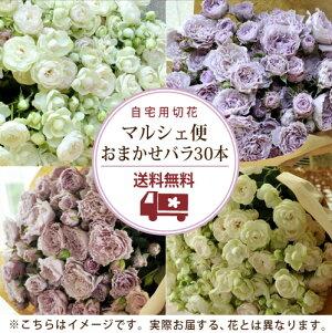 【送料無料】マルシェ束30本バラおまかせ