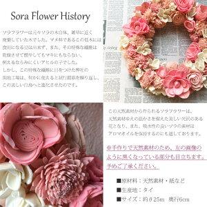 ソラフラワーリース【ピンクフラワー25cm】