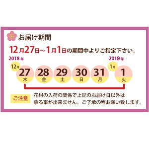 お正月アレンジお届け日について