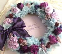 【送料無料】大切なお客様顧客様プレゼントオリジナルギフト誕生日花箱プリザーブドフラワーボーダードットボックス箱記念日結婚退職就職新築開店周年お祝薔薇バラ赤青紫オレンジアンティークホワイトデー