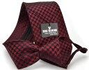 ワンタッチ ネクタイ【HUGO VALENTINO】 ブランド らくらく ネクタイ シルク 雀格子 Necktie WA-14-Y 【8.5cm幅】05P03Sep16