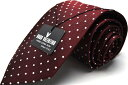 HUGO VALENTINO ネクタイ ブランド シルク TYPE-120-Y/エンジ/ドット /Silk/Necktie05P03Sep16
