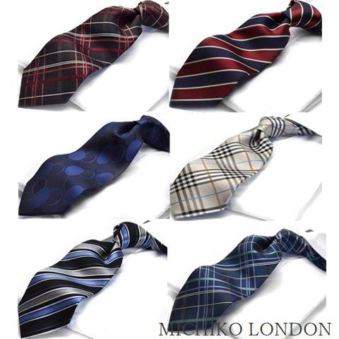 秋物入荷 ミチコロンドン ネクタイ MICHIKO LONDON チェック ブランド Necktie シルク silkMICHIKO-700SET made in japan
