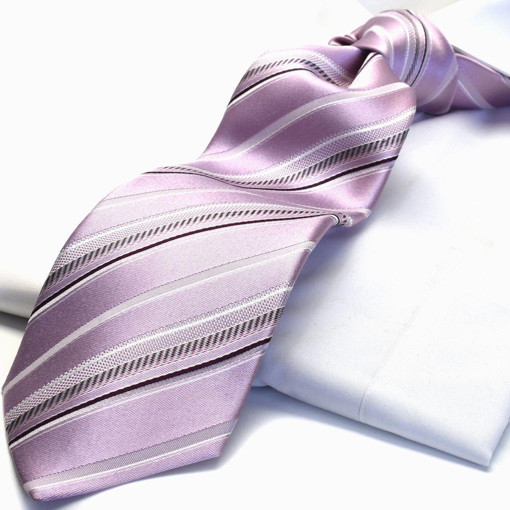 ギフト プレゼントMICHIKO LONDON ミチコロンドン ストライプ/ ピンク(パープルかかったピンク) エンジ/ m-24b日本製