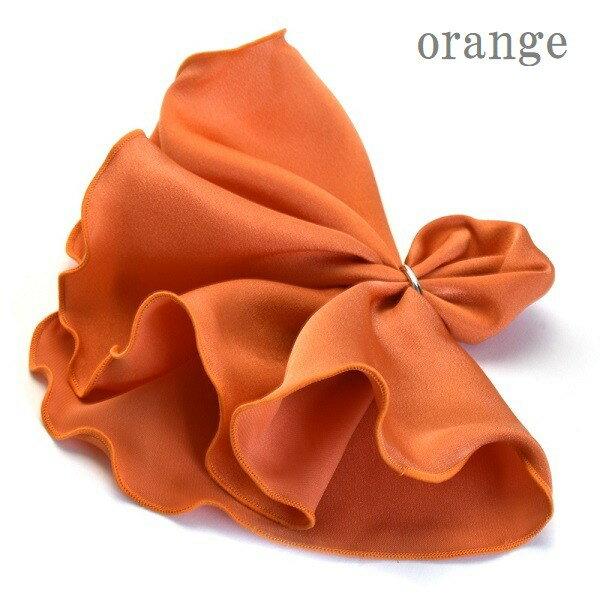 スーツ用ファッション小物, チーフ  po-maru-orange