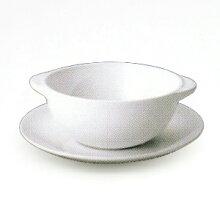 ウェッジウッドホワイトコノートスープカップ