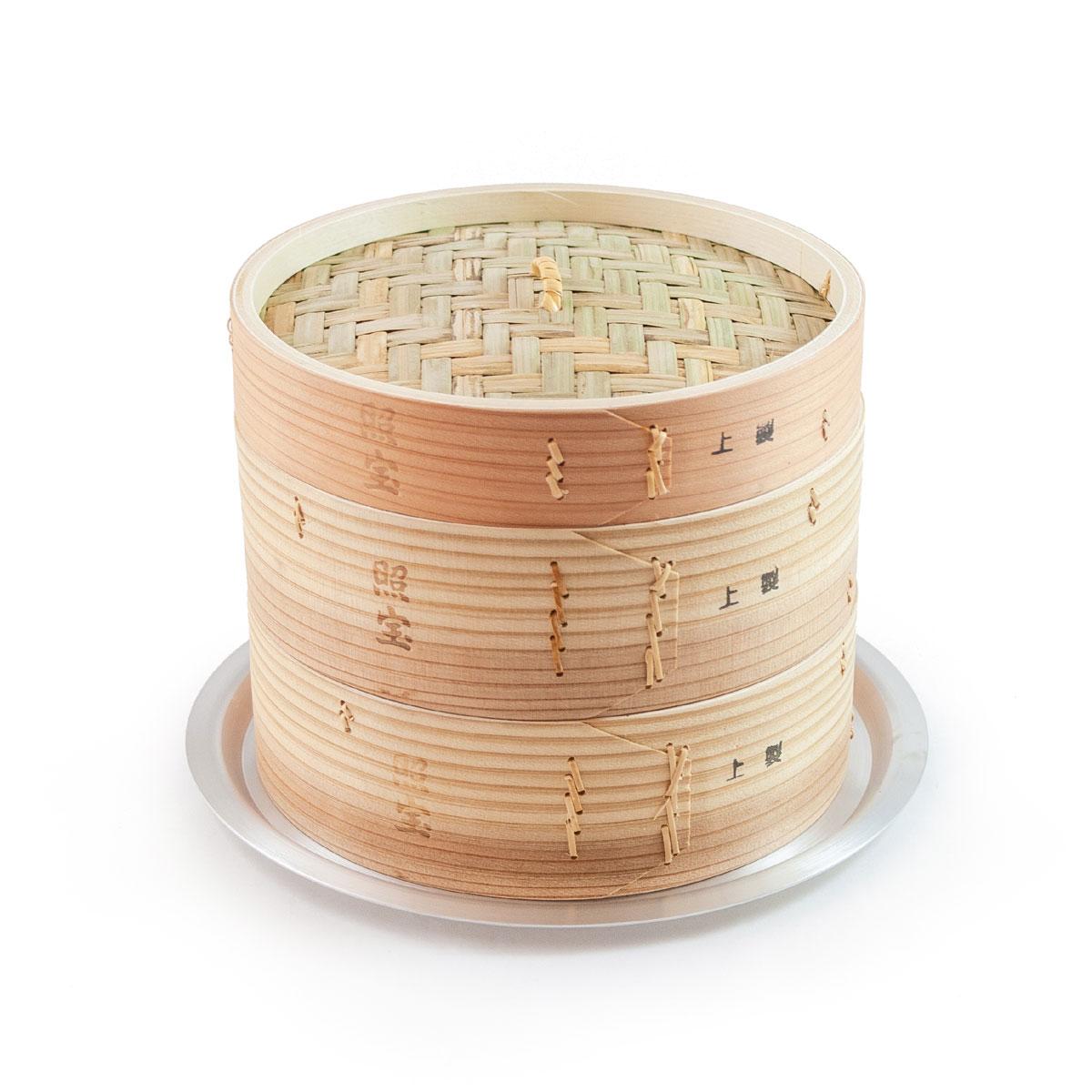 照宝 上製 中華せいろ 杉製 蒸し板セット φ21cm【RCP】【店頭受取対応商品】