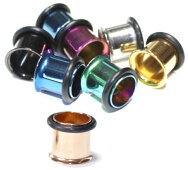 シングルフレアアイレット/イヤレット/プラグ/オーリング/2.5mm(10G)/3mm(8G)/4mm(6G)/5mm(4G)/6mm(2G)/8mm(0G)/10mm(00G)/12mm/14mm/16mm316Lサージカルステンレス/ボディピアス