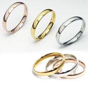 ステンレスリング/甲丸リング/指輪/シルバー/ゴールド/ピンクゴールド/ブラック