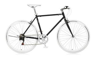 自転車クロスバイク700c通勤通学外装7段変速サイクリング530mmホリゾンタルスポーツバイクa.n.designworksアウトレットLaugh537ラフ【カンタン組立】【a.n.dロック・バルブアダプタプレゼント】