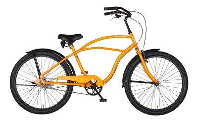 自転車26インチビーチクルーザーファットバイク極太タイヤBMXおすすめシングルスピード身長160cm~スポーツバイクCaringbahカリンバa.n.designworksアウトレットCB26BC【99%組立】【a.n.dロックプレゼント】