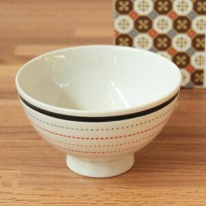 波佐見焼ステッチラインMASU入り碗(赤)食器茶碗磁器枡キッチン日本製北欧デザインかわいいおしゃれギフトプレゼント
