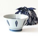 波佐見焼くらわんか丼(一個入)リーフ青どんぶり手ぬぐい付き食器磁器キッチン日本製かわいいおしゃれギフトプレゼント