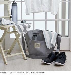 HOMECANVASラウンドトートランドリートート洗濯ランドリーボックスコインランドリースパアウトドアトートバッグバスケットインテリアコンパクトおしゃれ