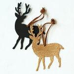ブリキオーナメントオンブルレインディア【鹿トナカイクリスマスツリー木飾り北欧デザインおしゃれかわいいギフトプレゼントインテリア雑貨】