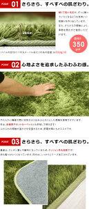 さらさらふわふわ!マイクロシャギーラグマット(185×240cm)楽天最安値に挑戦中!【ラグ|カーペット|毛足|長い|さらさら|ふわふわ|シャギー|マイクロ|正方形|モダン|北欧|絨毯|夏|グリーン】