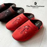 【TheHouseFootwear】革靴転写プリントルームシューズ(タッセルローファ—)ローファー風リアルルームシューズスリッパ室内履きオフィスオシャレギフトプレゼント