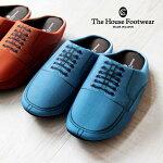 【TheHouseFootwear】革靴転写プリントルームシューズ(U-tip)Uチップ風リアルルームシューズスリッパ室内履きオフィスオシャレギフトプレゼント