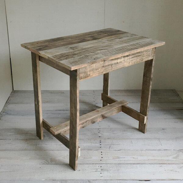リサイクルウッド ワーキングテーブル コンパクト 木製テーブル テーブル ダイニングテーブル カフェテーブル 作業台 木製デスク デスク 天然木 無垢 アンティーク風テーブル アンティーク風 テレワーク