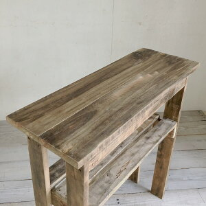 リサイクルウッドエントランスコンソールテーブル26コンソール木製テーブル飾り棚キャビネットキッチン収納リビングシェルフすき間収納玄関収納スリムラック収納棚整理棚天然木無垢アンティーク風テーブルアンティーク風