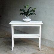 リサイクルウッド・コンソールテーブル ホワイト コンソール テーブル キャビネット キッチン リビングシェルフ アンティーク