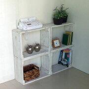 リサイクル ボックス ホワイト シェルフ アンティーク