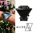 【Alive Athletics】ALIVE アライブ A-FRAME future(Aフレーム)フューチャー ALL BLACK ALL SLIVER湯川正人プロデュース 三角形 ステンレス【TYDL156】