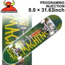 TOY MACHINE トイマシーン スケートボード コンプリート PROGRAMING INJECTION (8.0 × 31.63) [TM-108] ...