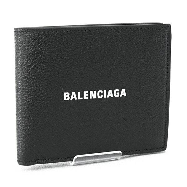 2021AW新作バレンシアガBALENCIAGA財布メンズ折財布カーフブラック×ホワイト(5943151IZI31090BLACK/LWHITE)