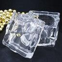 ガラス製 小物ケース キャンドルホルダー プレゼント箱の形 クリア (H177800 クリア)
