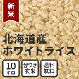 分づき 玄米 新米 10kg 送料無料 北海道産ホワイトライス 残留農薬検査済み 放射能検査済み 定期購入選択可能