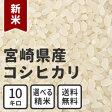 白米 玄米 無洗米 新米 10kg 送料無料 宮崎県産コシヒカリ 放射能検査済み
