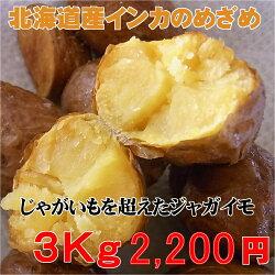 【送料無料】北海道産インカのめざめ(3kg2200円
