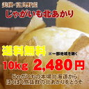 【送料無料2480円】【訳あり】北海道じゃがいも北あかり(10kg)