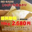 【送料無料2680円】【訳あり】北海道じゃがいも北あかり(10kg)