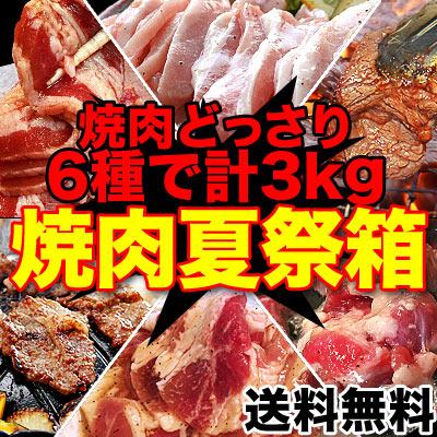 食べるぞ焼肉夏祭りセット合計3kg大ボリューム!色々な焼肉を一度に楽しめる!製造者...