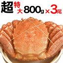 【特売/先着120個】毛ガニ超特大800gオーバー3尾[一級...