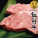 バーベキュー 食材 最高級 牛肉 サーロイン ステーキ A5 熊野牛 黒毛和牛 500g 約250g×2枚