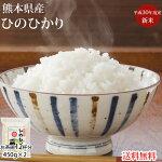 送料無料お試し米ひのひかり450g3合熊本県産ポイント消化お米白米玄米コシヒカリ森のくまさん