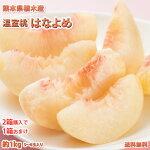 桃温室桃はなよめ約1kg5〜6玉入り熊本植木産2箱購入で送料無料3箱購入で1箱おまけももピーチ