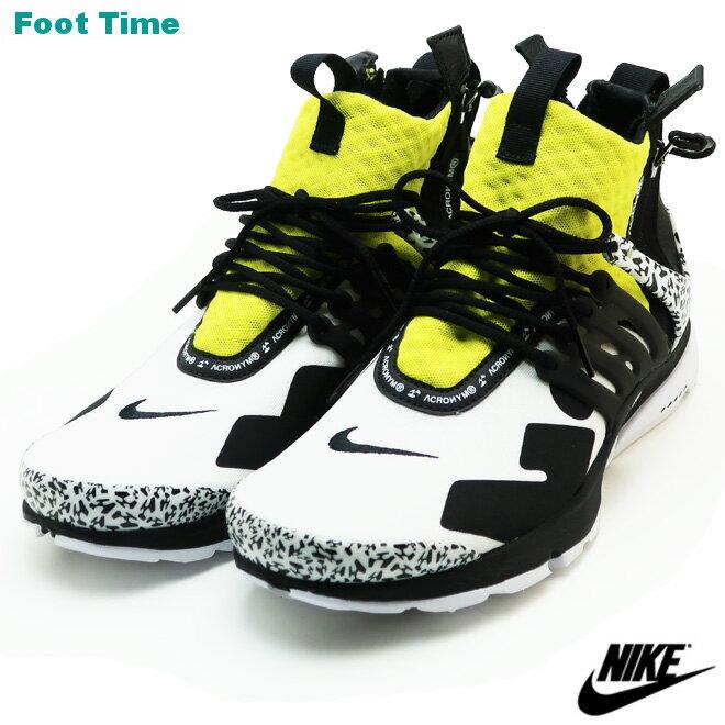 メンズ靴, スニーカー  AIR PRESTO MID ACRONYM - WHITEBLACK-DYNAMIC YELLOW AH7832-100
