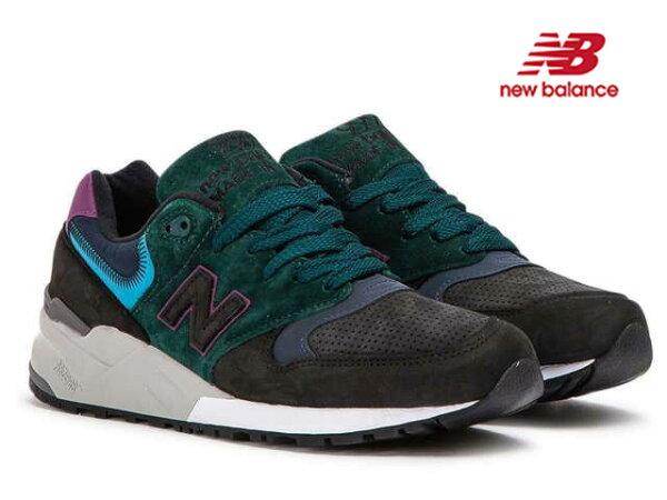 NEWBALANCEM999JTBニューバランスM999JTBTEALBLACKティールブラックD:width靴メンズ靴スニーカ