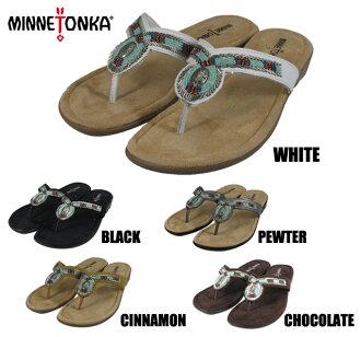Minnetonka ビズビートング MINNETONKA BISBEE THONG 70015 WHITE/BLACK/PEWTER/CINNAMON/CHOCOLATE