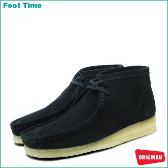 Clarks Wallaby boots CLARKS WALLABEE BOOT BLACK SUEDE