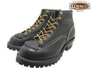 """ウエスコ ジョブマスター ブラック  ブラックソール メンズ ブーツ ワークブーツ  WESCO 6""""JOBMASTER BK106100 Black vibram #100"""