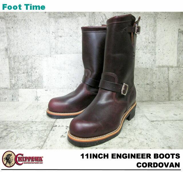 【人気アメカジブランド】  チペワ 11インチ エンジニアブーツ コードバン CHIPPEWA 11 ENGINEER BOOTS CORDOVAN E WIDTH #1901M04:Foot Time