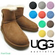 アグ ミニ ベイリー ボタン UGG MINI BAILEY BUTTON 3352 11COLOR BLACK/CHOCOLATE/CHESTNUT/SAND/GREY/LMST/IBT/GGRS/BTNB/BNN/PESR ムートンブーツ レディース シープスキン fs04gm