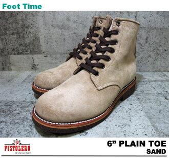 PISTOLERO 6 PLAIN TOE SAND 108-03