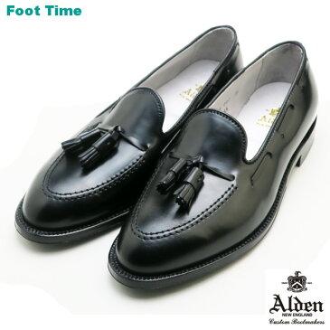 オールデン タッセル モカシン ローファー ALDEN TASSEL MOCCASIN LOAFERS 664 シェル コードバン ブラックSHELL CORDVAN BLACK Dワイズ MADE IN USA メンズ シューズ ビジネス ドレス 靴